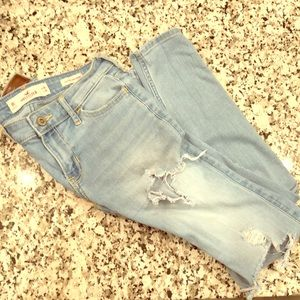 Hollister low rise jeans.